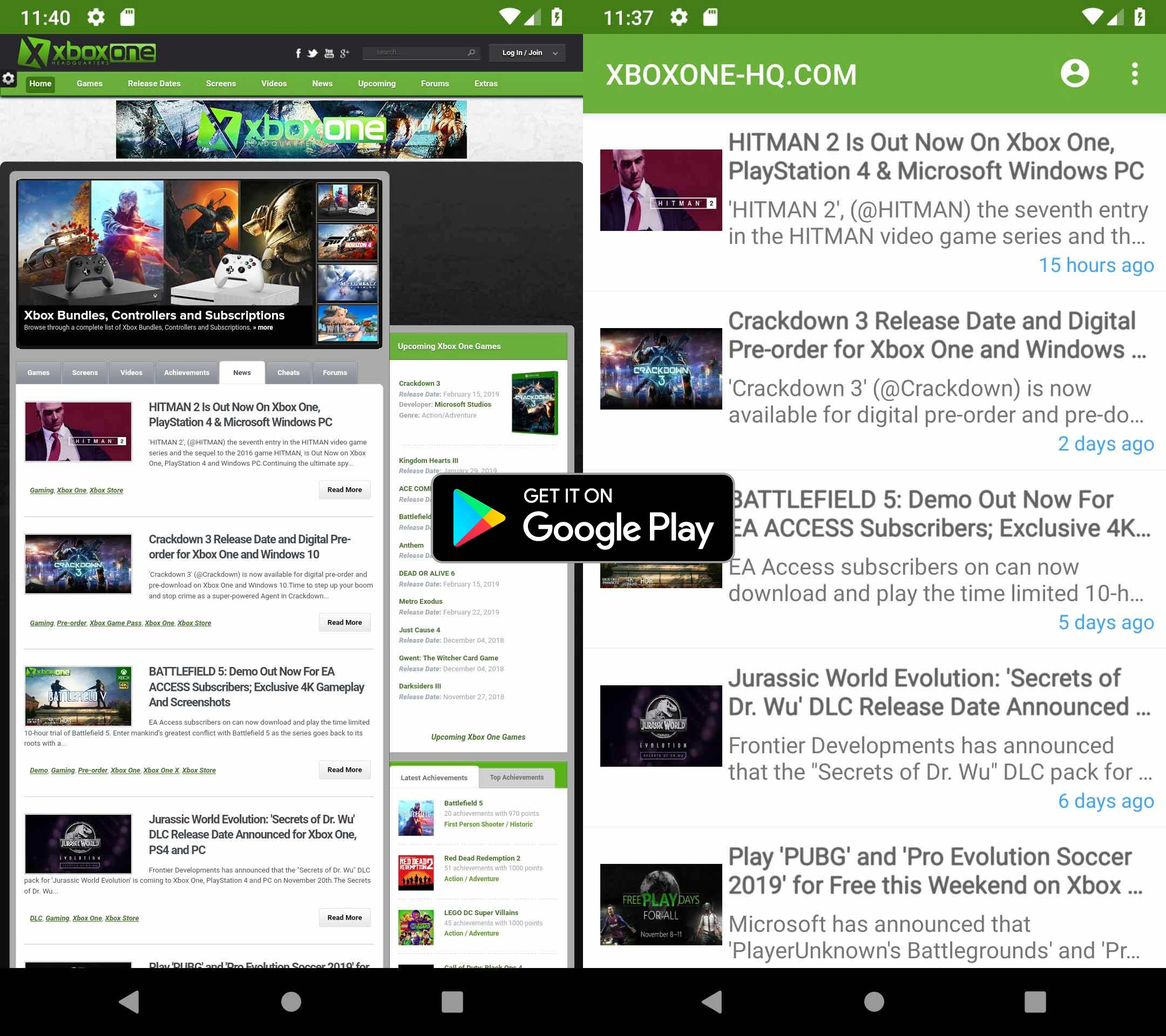 Download the Free Xbox One Android App